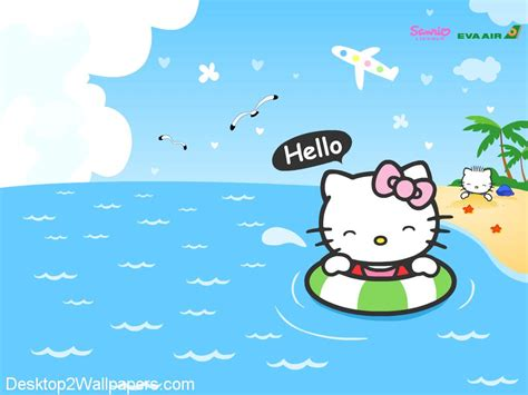 hello kitty summer hello kitty spring wallpapers wallpaper cave