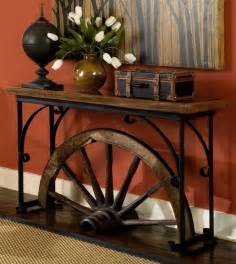 sofa table decorations 10 amazing ideas to decorate your home with wagon wheels