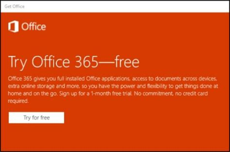Office 365 Trial Hp Pcs Starting A Microsoft Office 365 Trial Windows 10