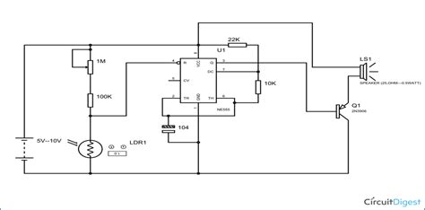 laser light detector circuit detector alarm circuit diagram ldr and 555 timer ic