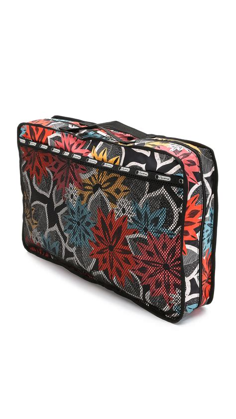Lesportsac Large Pouch lesportsac large utility pouch caraway floral lyst