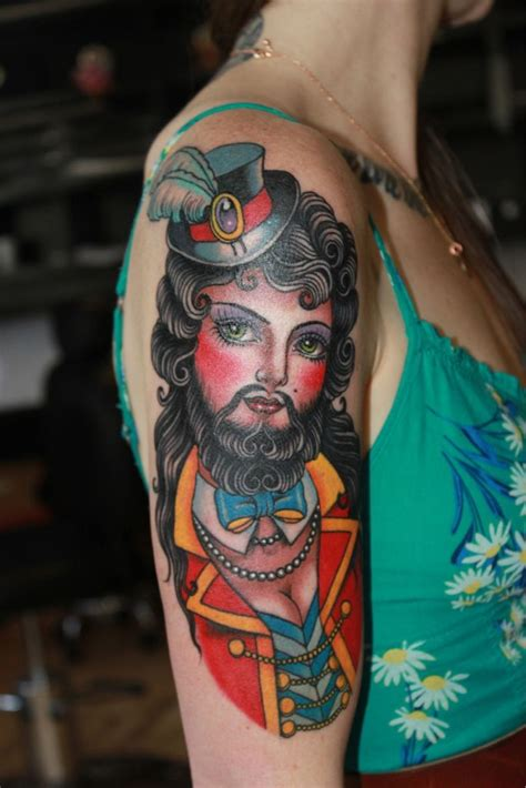 bearded lady tattoo 17 best ideas about circus on carnival