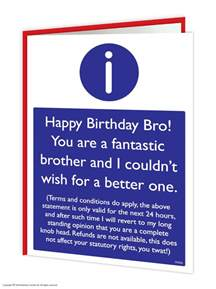 brainbox bro birthday greeting cards rude cheeky joke humour ebay