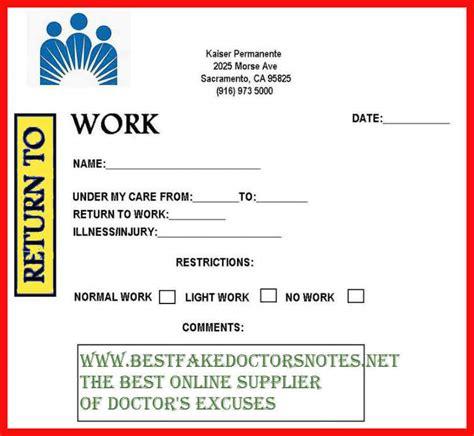 return to work note doctor note return to work apa exle