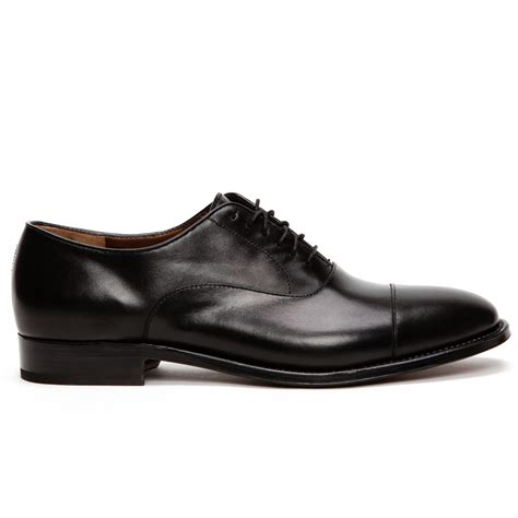 toe shoes fratelli rossetti antique leather cap toe shoes in black