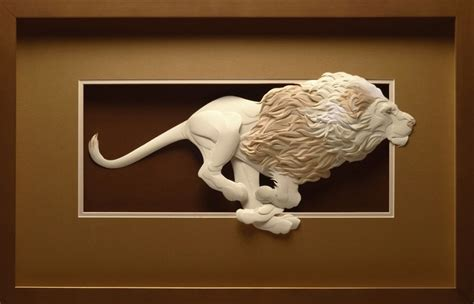 How To Make A Sculpture Out Of Paper Mache - 3d paper sculptures13 fubiz media