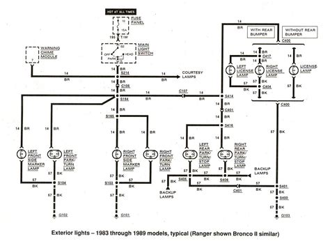 1987 ford f 150 rear light diagram wiring diagram with