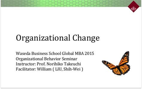 Mba In Organizational Change by Organizational Change