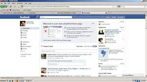 My home page on facebook