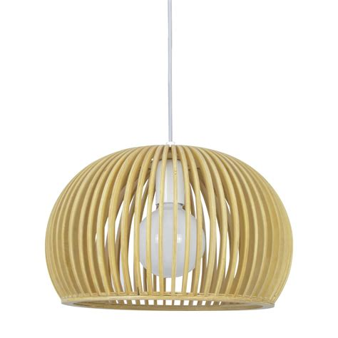 lampara de techo annika madera lamparas  iluminacion luzete