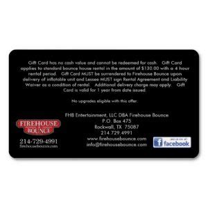 Bounce Gift Card - firehouse bounce now offers gift cards firehouse bounce