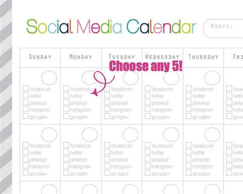 social media calendar template free search results for social media calendar template