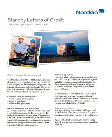 Letter Of Credit Ucp 600 Pdf financial standby letter of credit exle docoments