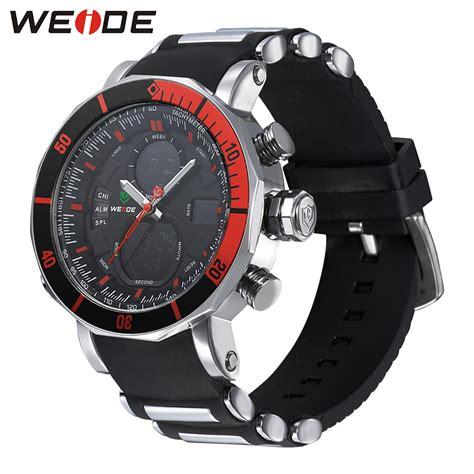 weide jam tangan analog pria dual time zone silicone wh5203 jakartanotebook