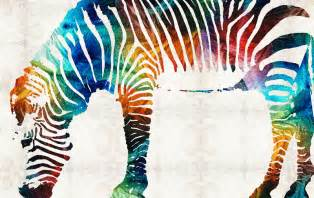 colorful zebra animals abstract by