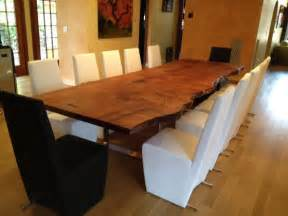 Custom Wood Dining Room Tables Custom Redwood Slab Table Dining Room New York By Custom Made Wood Furniture