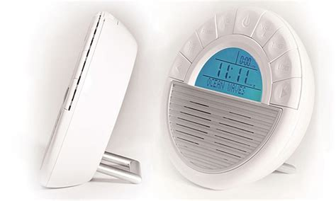 soothing sounds alarm clock and sound machine groupon