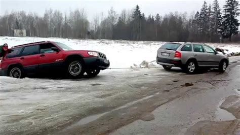 Subaru Outback Towing by Subaru Forester Towing