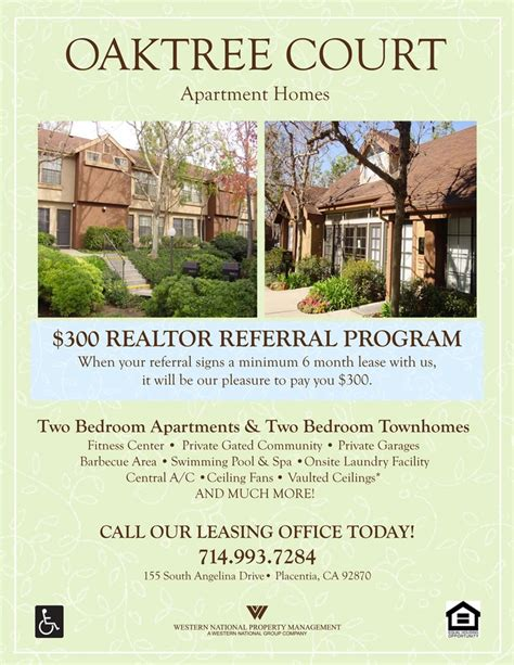 Realtor Referral Program Flyer Apartment Marketing Ideas Pinterest Leasing Flyer Templates