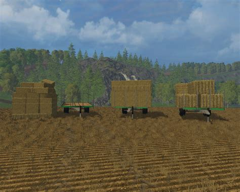 Small Ls by Fs 15 Trailers For Small Bales V 2 0 Bale Transport Mod F 252 R Farming Simulator 15