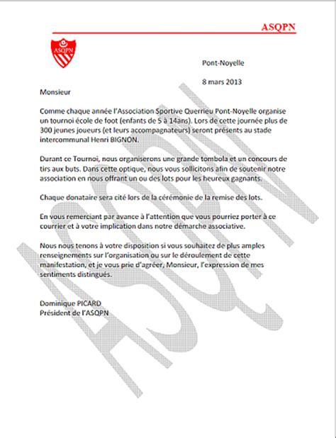 Demande De Lots Lettre Application Letter Sle Modele De Lettre Demande De Lots Pour Kermesse