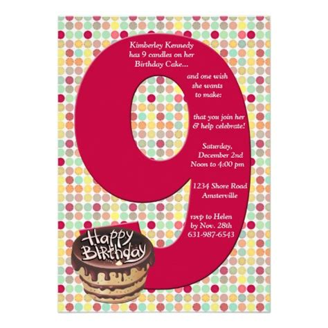 birthday themes for nine year olds 9 years old birthday invitations wording drevio