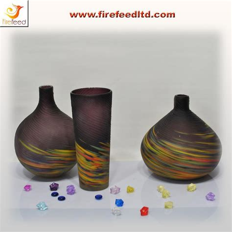 Handmade Glassware - china handmade engraved glass vase crafts china glass