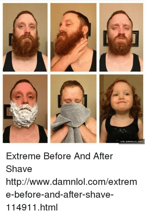 After Shave Meme - via damnlolcom extreme before and after shave