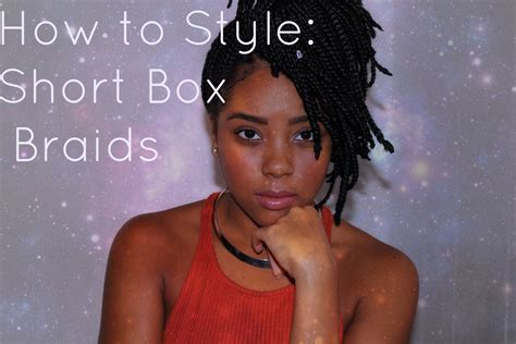 how to style hair that is shorter in the back than the front short box braids how to style youtube