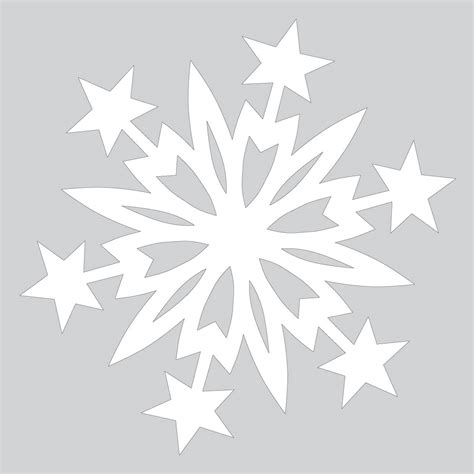 paper snowflake pattern with cut out