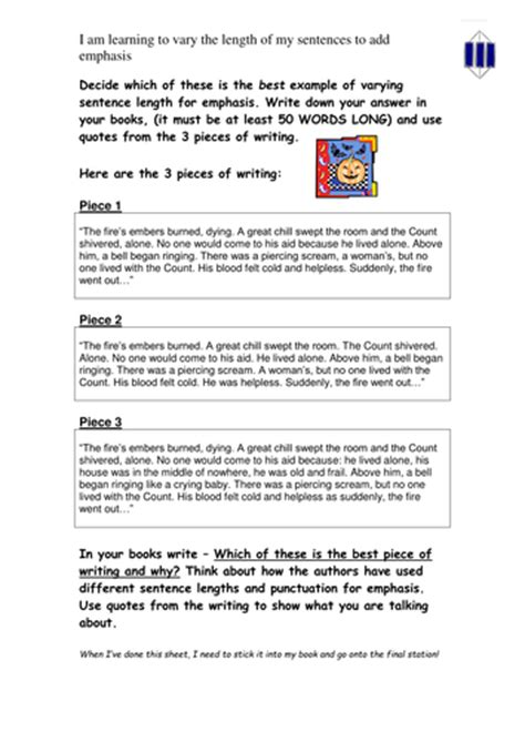 lesson on the use of sentences by