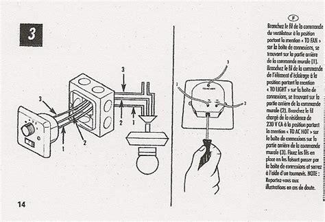 233 lectricit 233 bricolage branchement ventilateur luminaire de