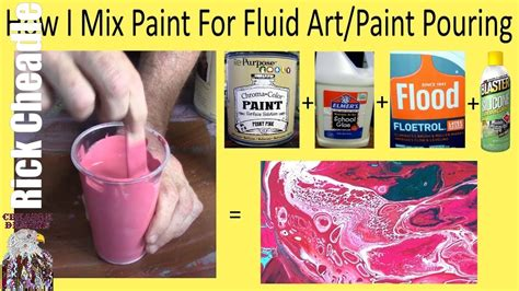 acrylic paint what you need how to mix paint pouring mixing showing the exact