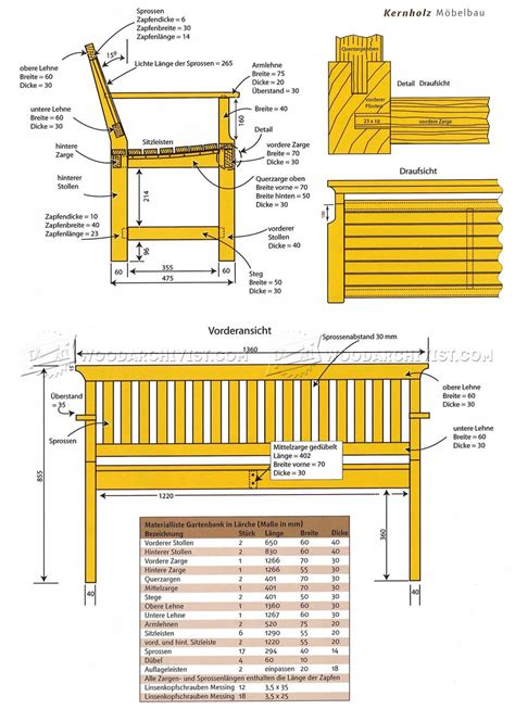 bench blueprints outdoor wooden benches woodworking plans