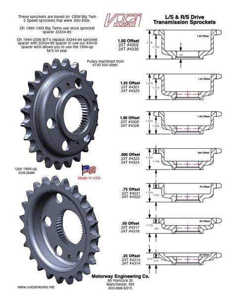 Speocket Rs 60 17 offset transmission sprockets 23 tooth 5 speed