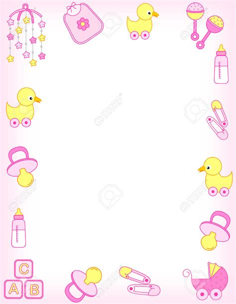 baby shower borders free baby border clip 58