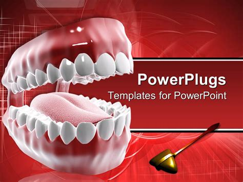 dental powerpoint themes powerpoint template dental care theme with mouth and