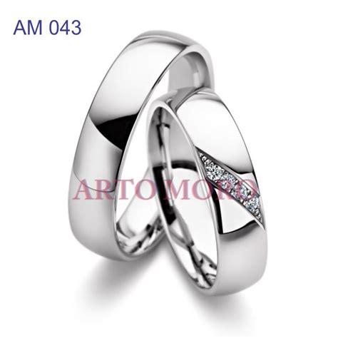 Cincin Kawin Emas Putih R1772 cincin emas putih 171 cincin kawin tunangan