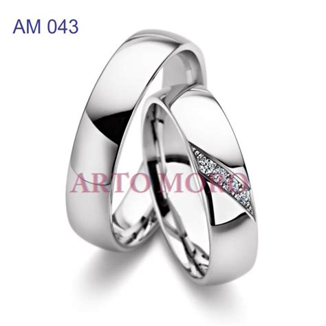 Cincin Kawin Berlian Cincin Tunangan Cincin Nikah Palladium Cr0044 cincin emas putih 171 cincin kawin tunangan