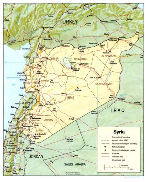 syria map nationmaster maps of syria 19 in total