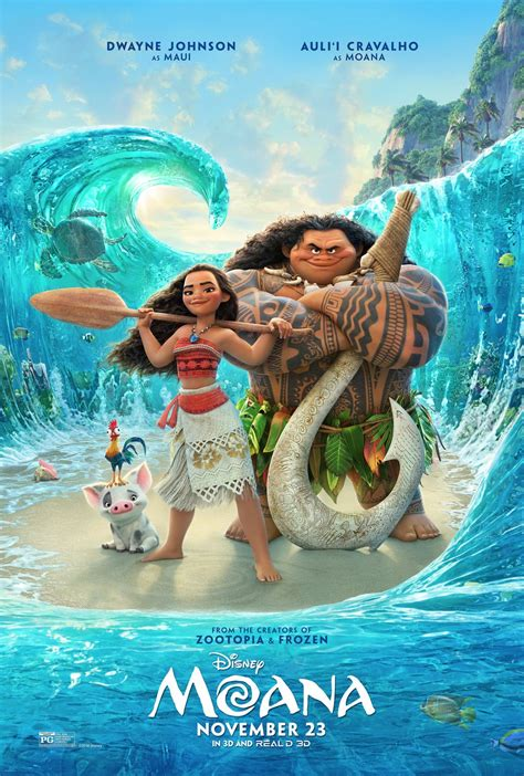 themes in disney films the rock reveals a new poster for moana diskingdom com