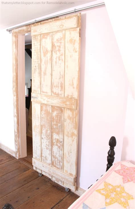 Remodelaholic Diy Sliding Barn Door Inexpensive Hardware Make Sliding Barn Door