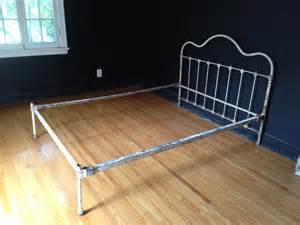 Iron Bed Frame Antique Chippy White Cast Iron Bed Frame By