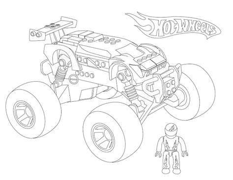 monster truck coloring pages for boys