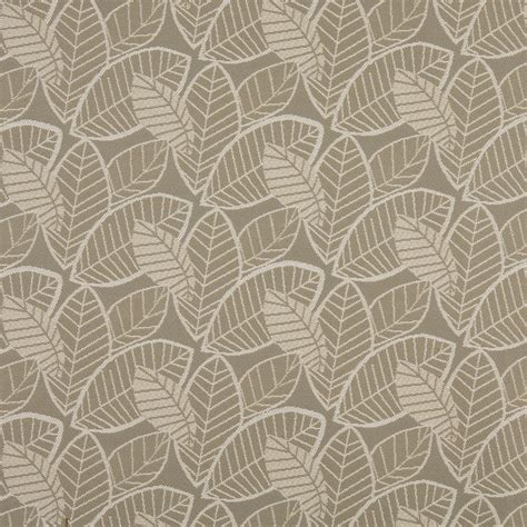 upholstery fabrics white on beige large leaf pattern damask upholstery fabric