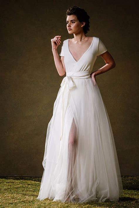 Wrap Style Wedding Dresses by Best 25 White Wrap Dress Ideas On Italian