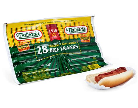 nathan s ingredients boxed nathan s skinless beef franks 28 franks