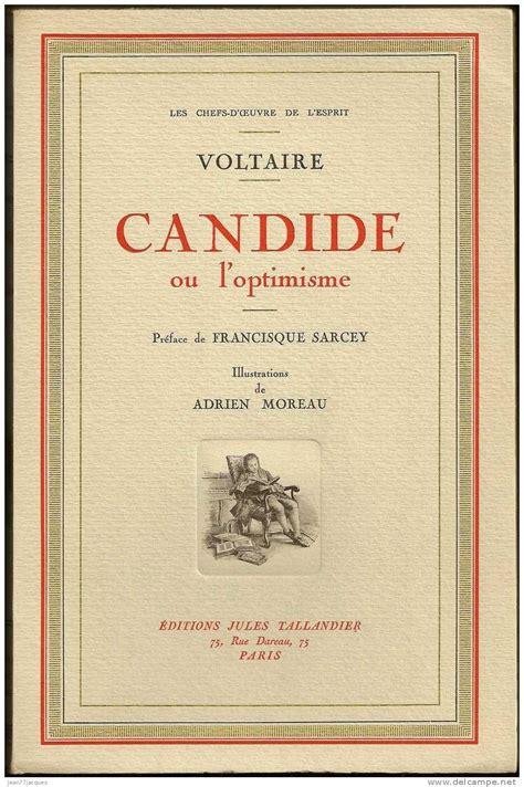 libro candide ou loptimisme de candide ou l optimisme par voltaire a classic en fran 231 ais ou en anglais reading list for