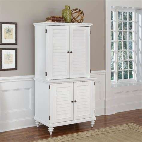 compact office cabinet and hutch home styles brushed white bermuda compact computer cabinet