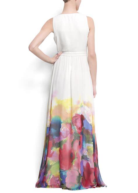 Dress Mango Kotak lyst mango watercolor flower maxidress